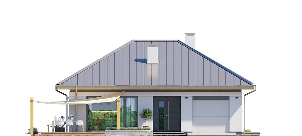 Projekt domu Dom na słonecznej - elewacja