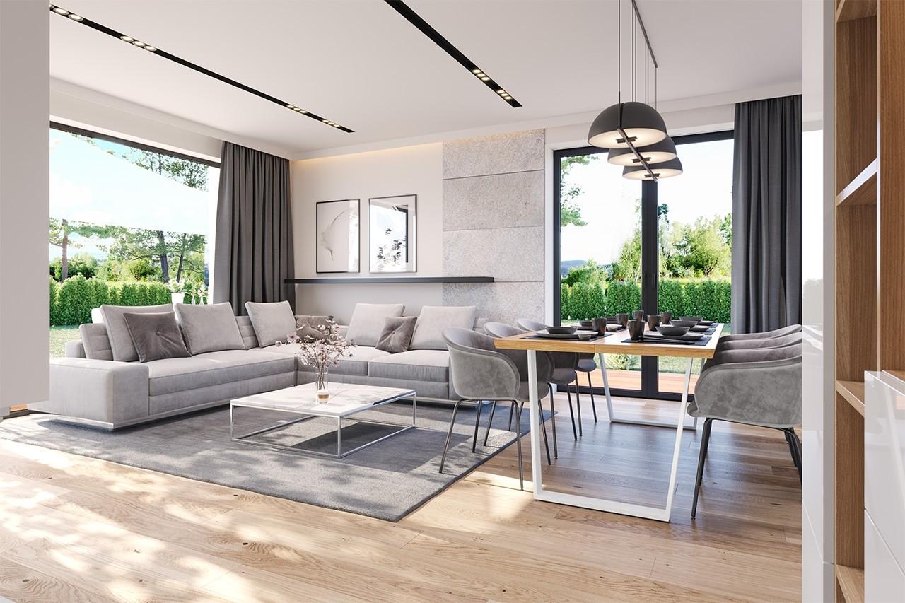 Projekt domu Dom na słonecznej - wizualizacja wnętrza