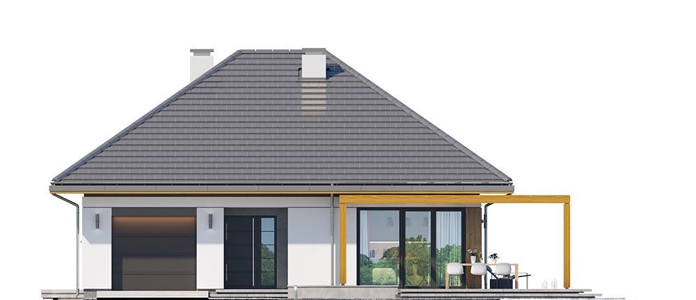Projekt domu Dom na słonecznej 2 - elewacja odbicie lustrzane