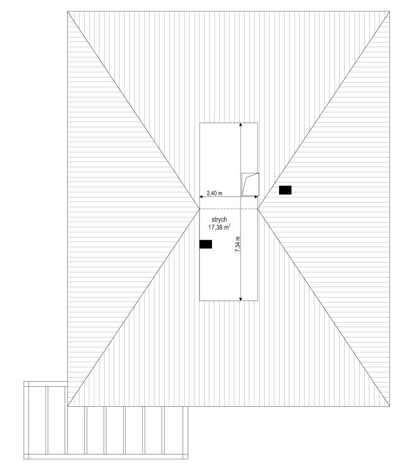 Projekt domu Dom na słonecznej 2 - rzut strychu