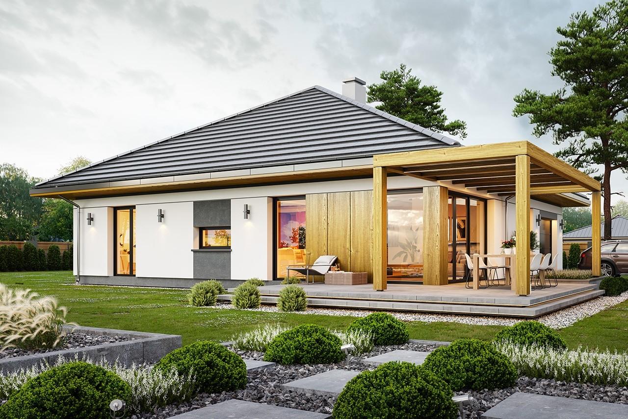 Projekt domu Dom na słonecznej 2 - wizualizacja ogrodowa