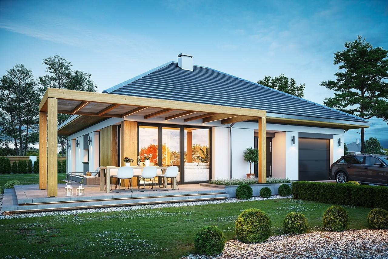 Projekt domu Dom na słonecznej 2 - wizualizacja frontu