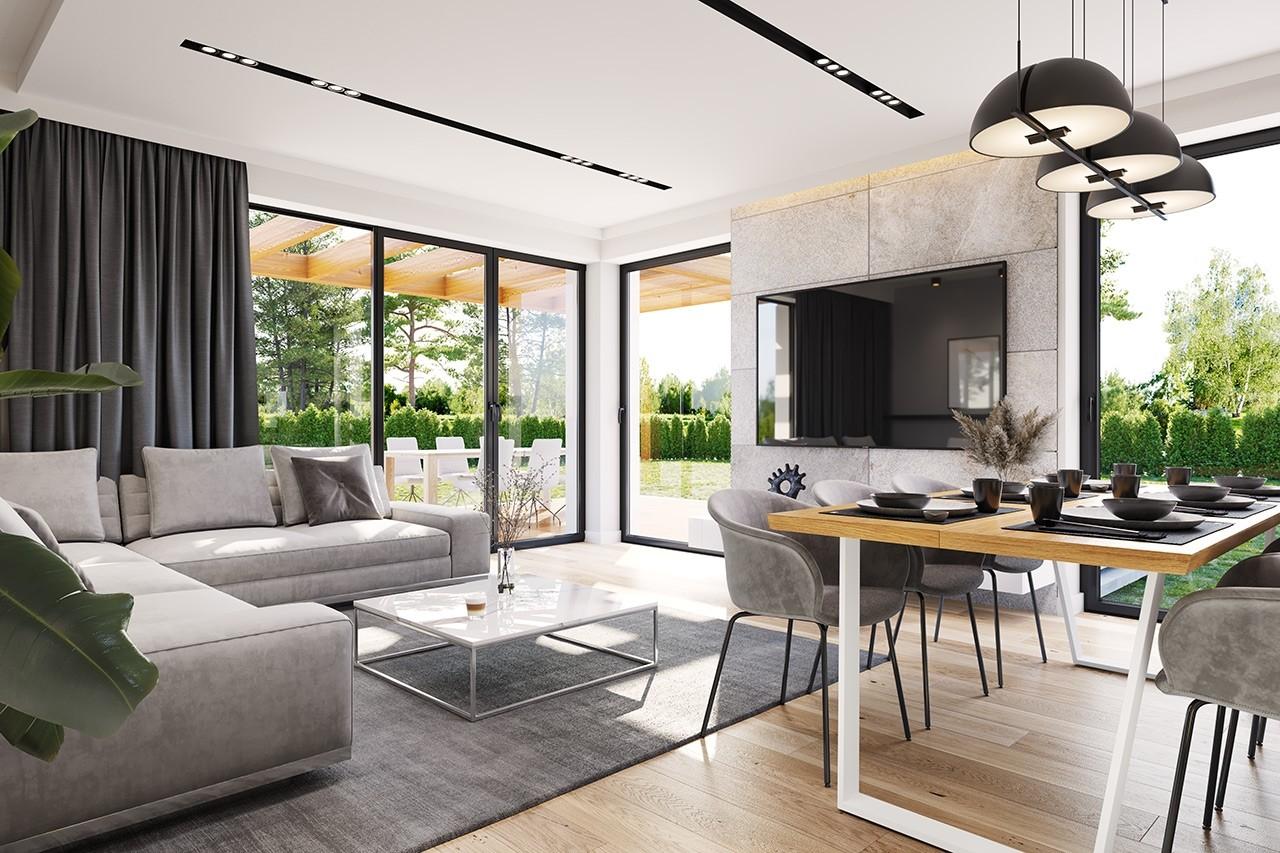 Projekt domu Dom na słonecznej 2 - wizualizacja wnętrza