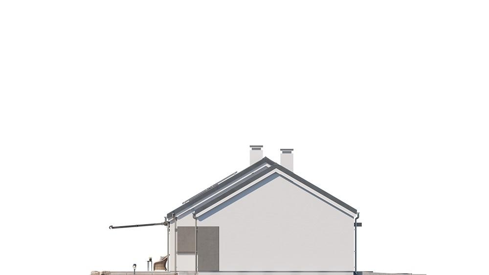 Projekt domu Dom na szerokiej - elewacja odbicie lustrzane
