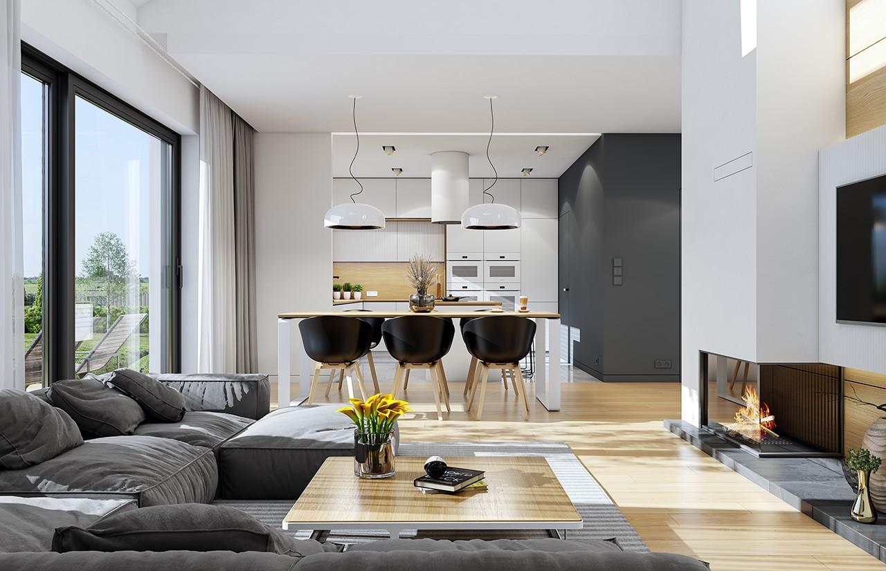 Projekt domu Dom na szerokiej 2 - wizualizacja wnętrza
