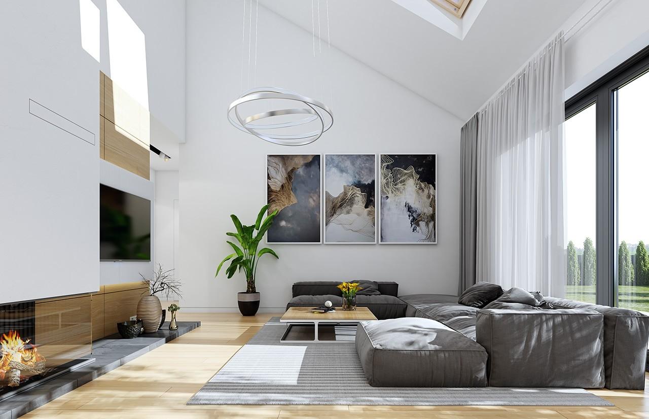 Projekt domu Dom na szerokiej - wizualizacja wnętrza