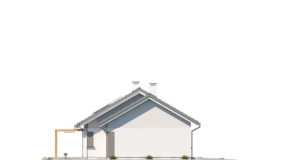 Projekt domu Dom na szerokiej 2 - elewacje odbicie lustrzane