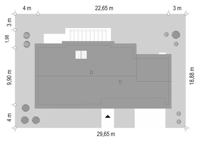 Projekt domu Dom na szerokiej 2 - sytuacja