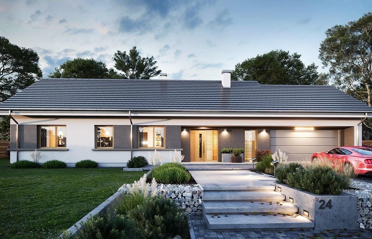 Projekt domu Dom na szerokiej 2 wizualizacja frontu