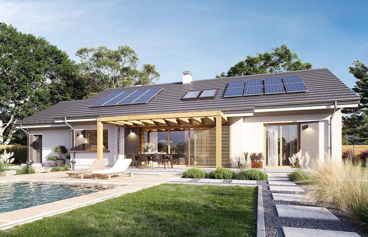 Projekt domu Dom na szerokiej 2 wizualizacja ogrodowa 2