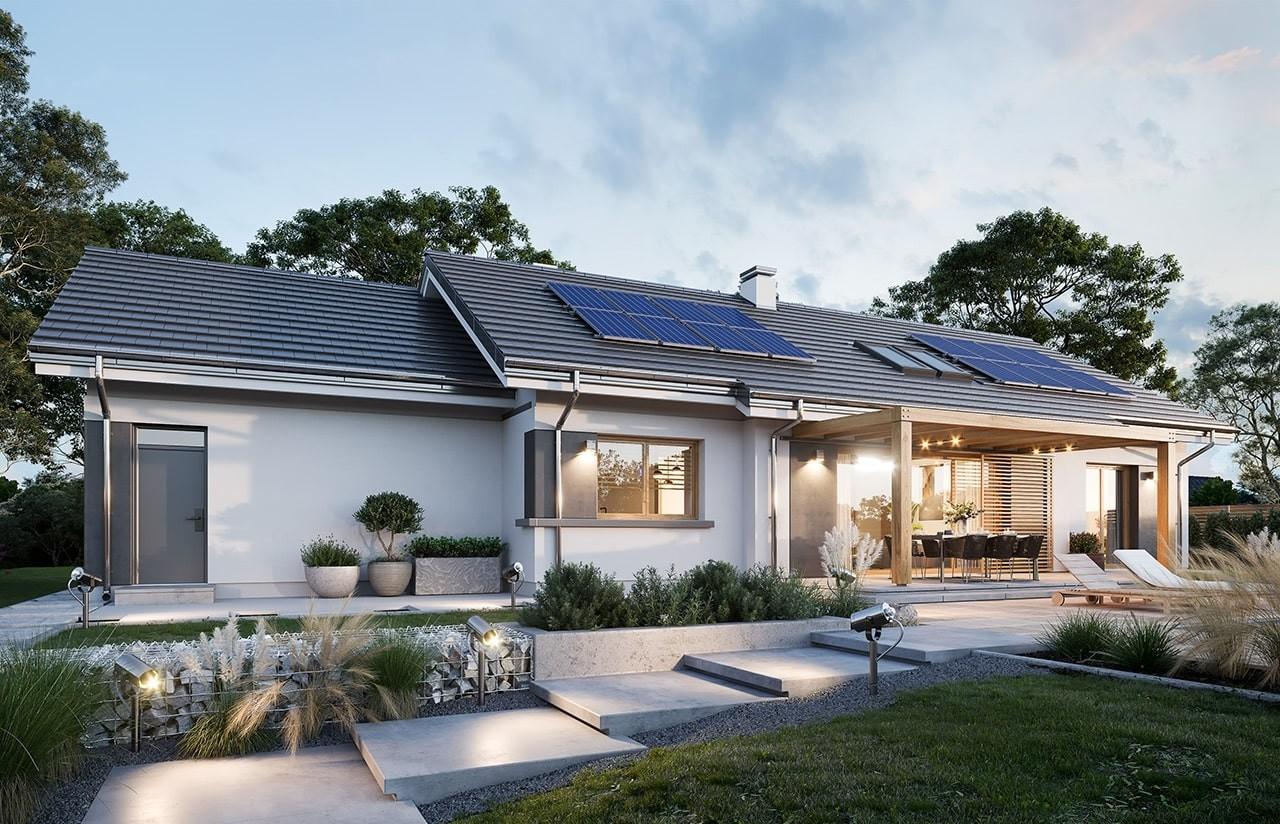 Projekt domu Dom na szerokiej 2 wizualizacja ogrodowa