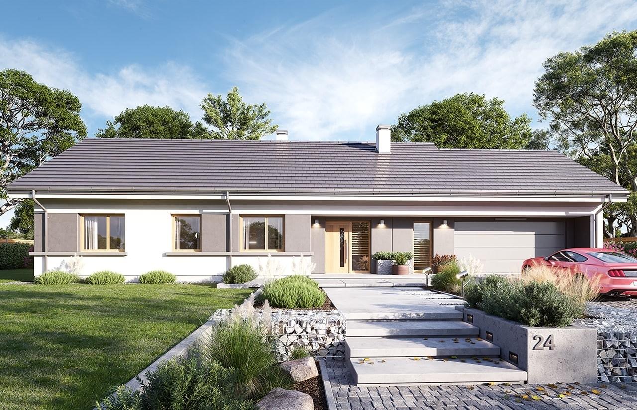 Projekt domu Dom na szerokiej 2 wizualizacja frontu 2