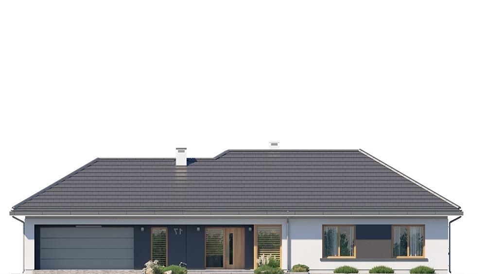 Projekt domu Dom na szerokiej 3 - elewacje odbicie lustrzane