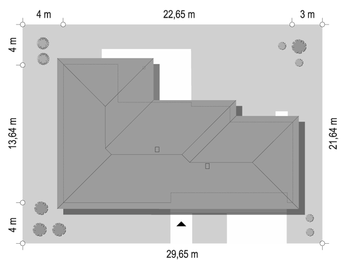Projekt domu Dom na szerokiej 3 - sytuacja