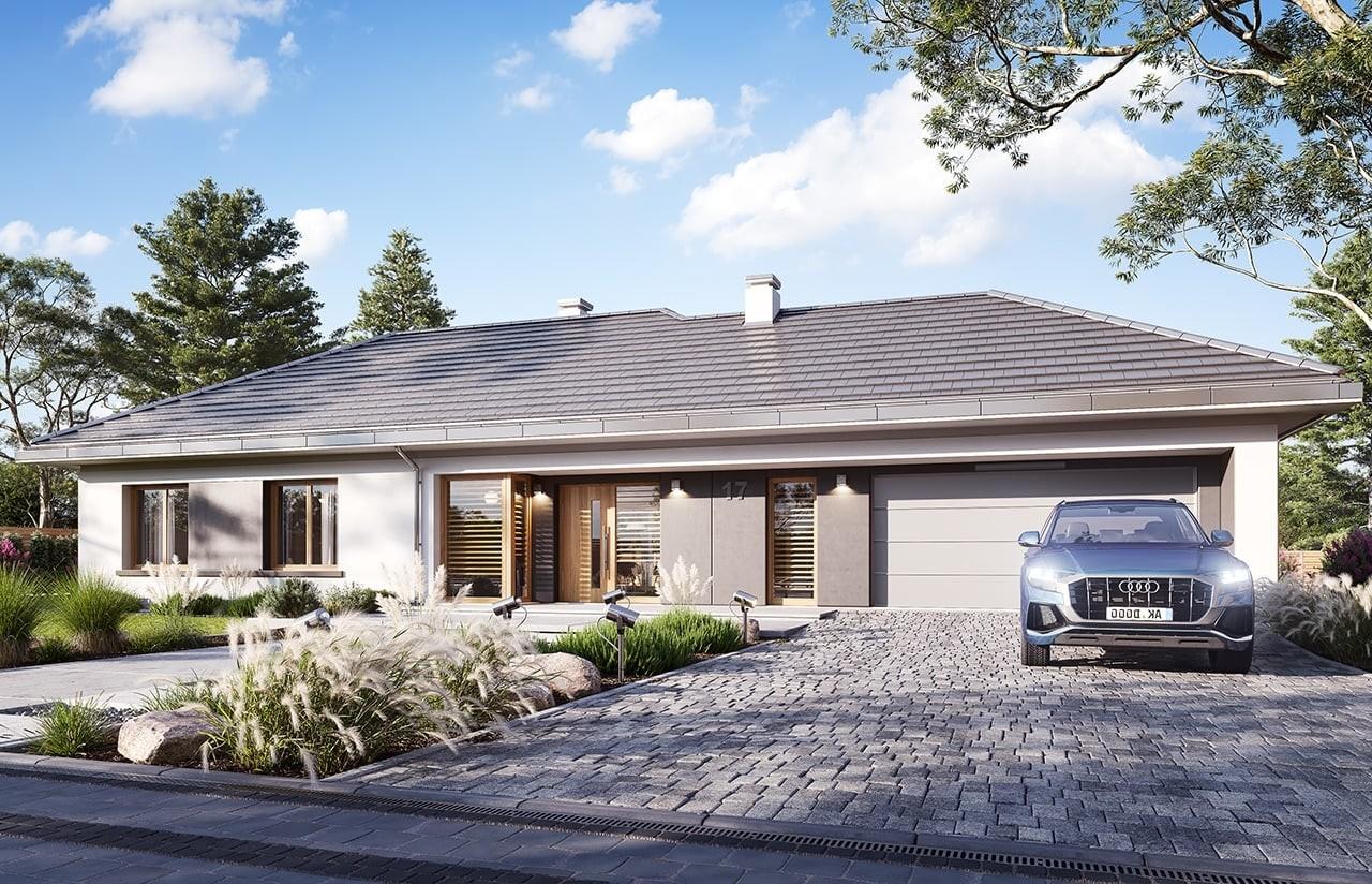Projekt domu Dom na szerokiej 3 wizualizacja frontu 2