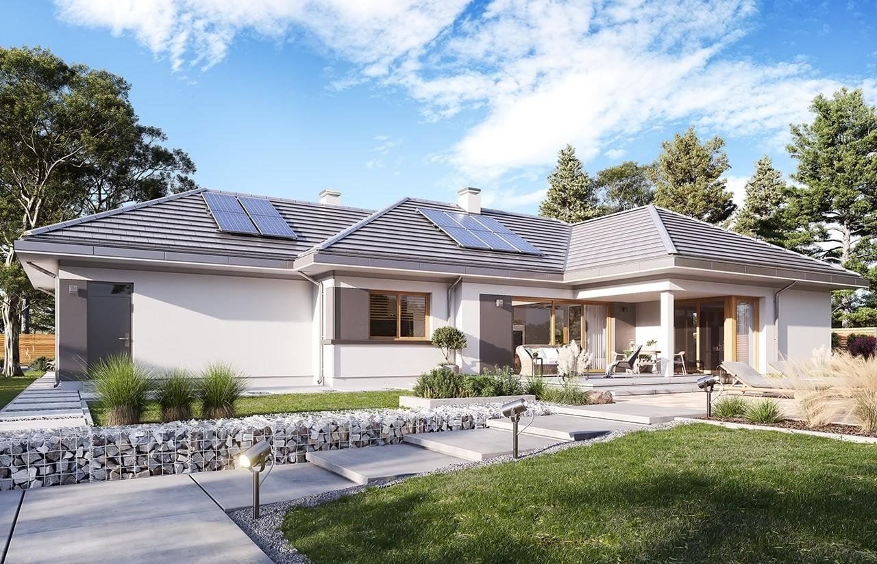 Projekt domu Dom na szerokiej 3 wizualizacja ogrodowa 2