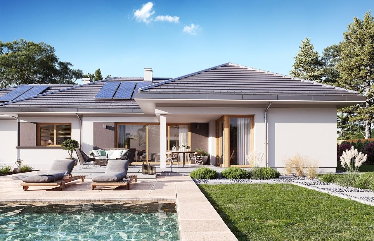 Projekt domu Dom na szerokiej 3 wizualizacja ogrodowa