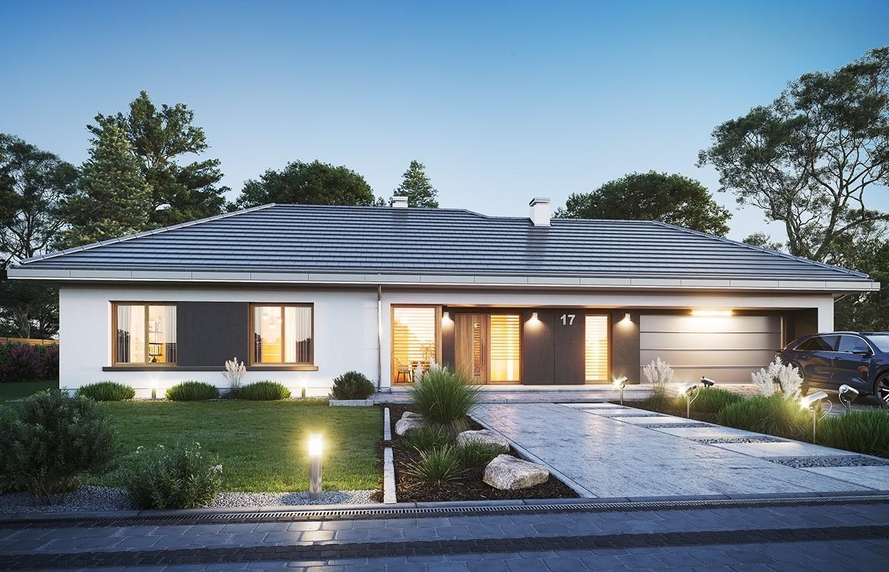 Projekt domu Dom na szerokiej 3 wizualizacja frontu