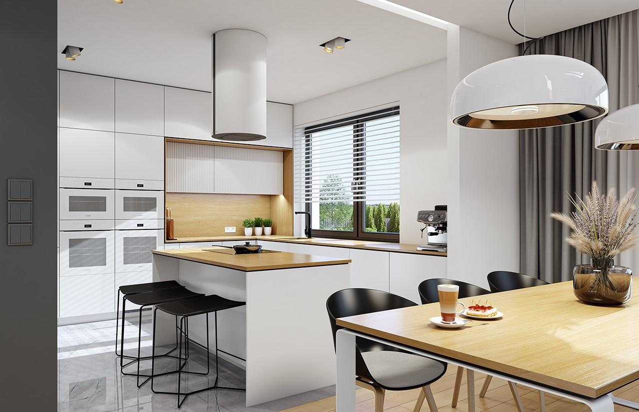 Projekt domu Dom na szerokiej 3 - wizualizacja wnętrza odbicie lustrzane
