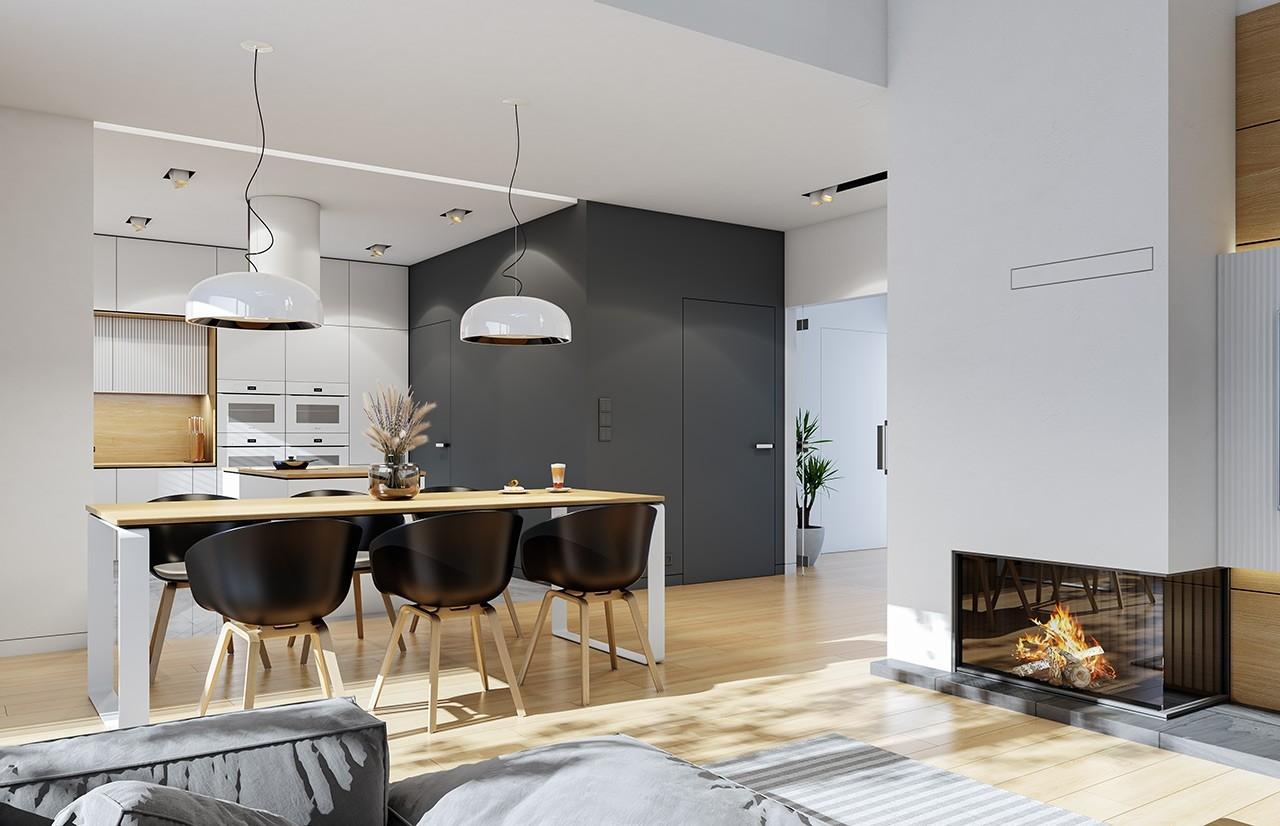 Projekt domu Dom na szerokiej 3 - wizualizacja wnętrza