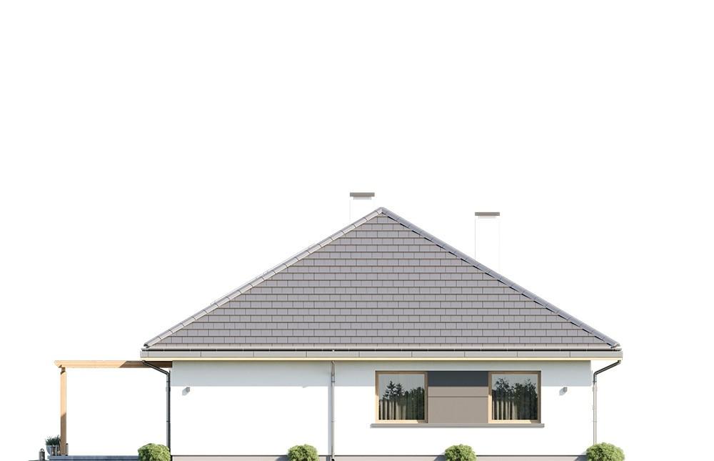 Projekt domu Dom na Wygodnej - elewacja