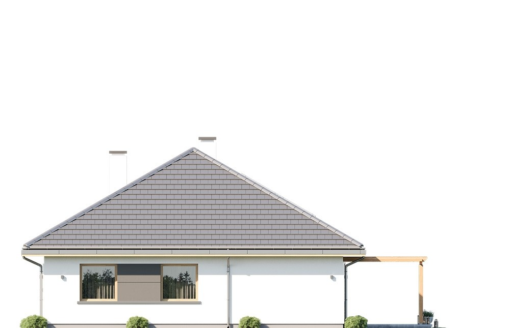 Projekt domu Dom na Wygodnej - elewacja odbicie lustrzane