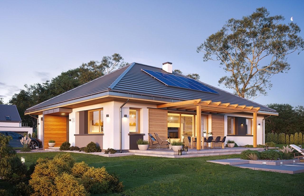 Projekt domu Dom na Wygodnej - wizualizacja ogrodowa