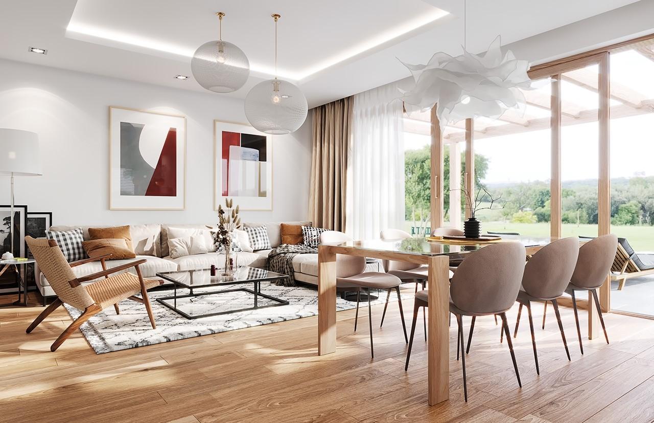 Projekt domu Dom na Wygodnej - wizualizacja wnętrza