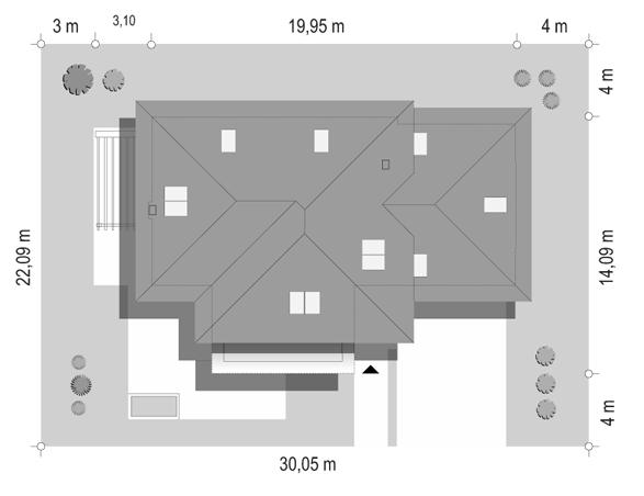 Dom z widokiem 2 C - sytuacja odbicie lustrzane