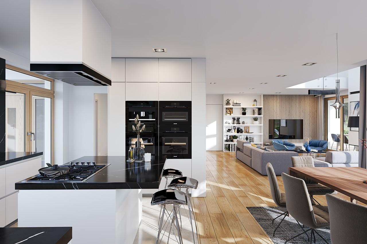 Projekt domu Dom z widokiem 3 F - wizualizacja wnętrza