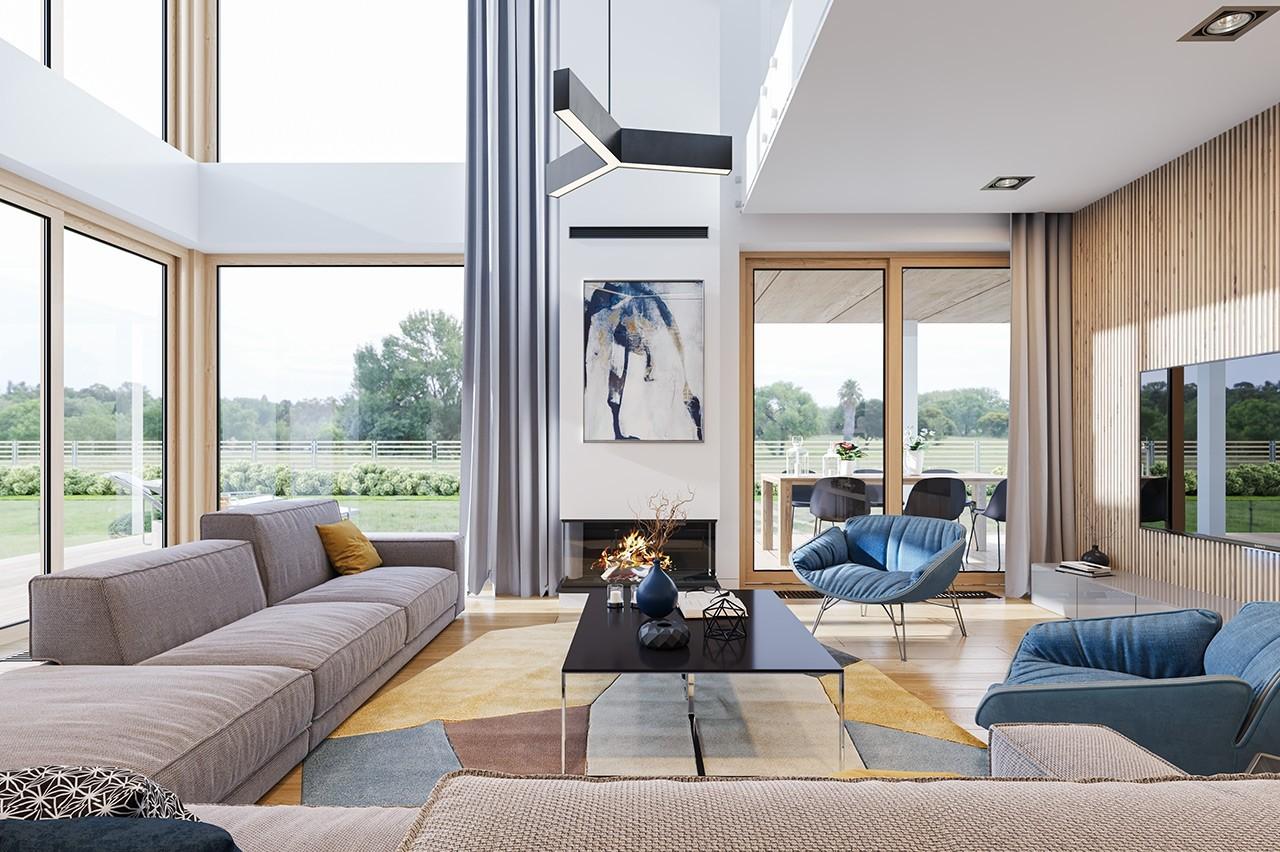 Projekt domu Dom z widokiem 3 F - wizualizacja wnętrza odbicie lustrzane