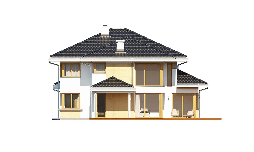 Dom z widokiem 3 wariant G - elewacja boczna