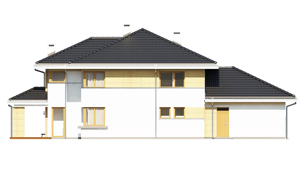 Dom z widokiem 3 wariant G - elewacja ogrodowa odbicie lustrzane