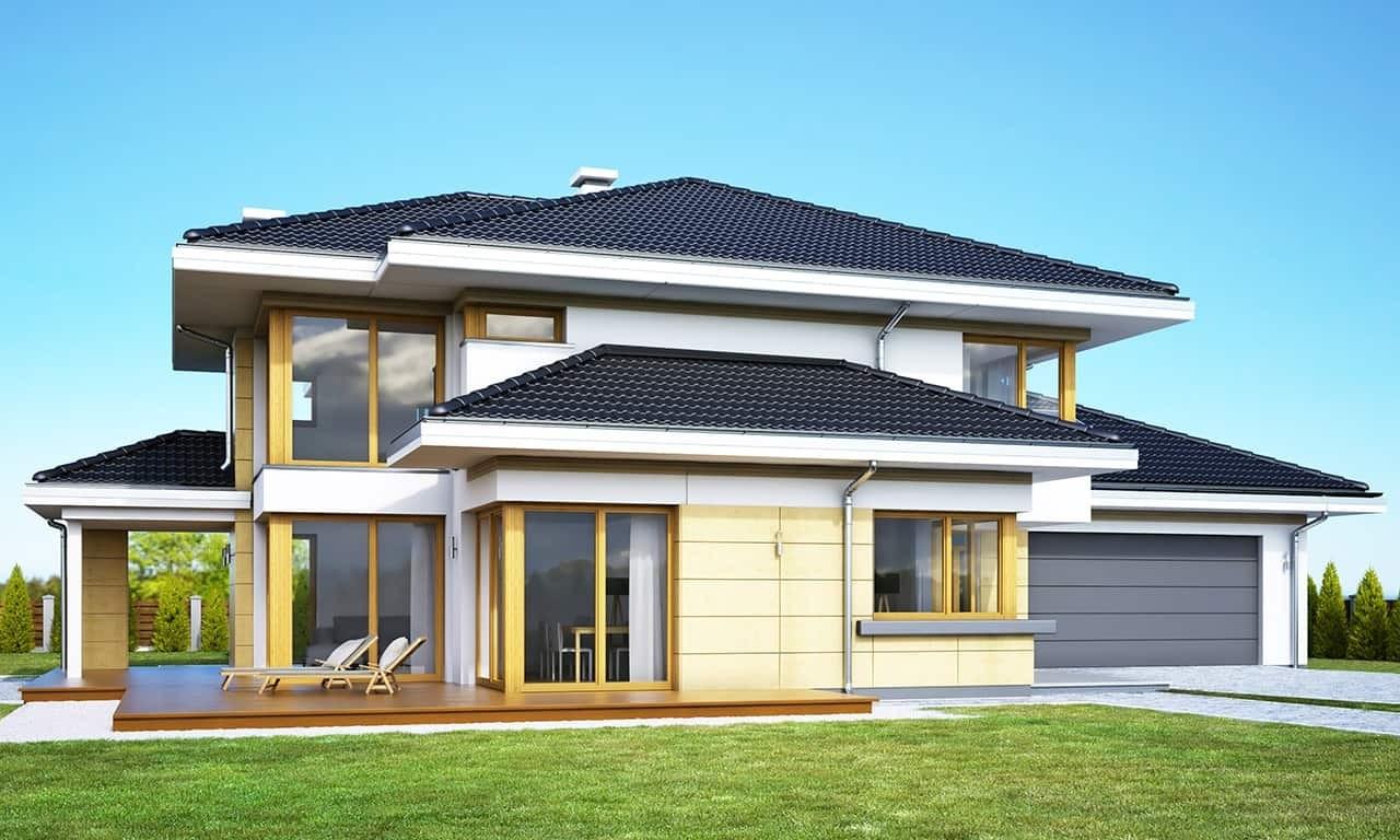 Projekt domu Dom z widokiem 3 wariant G - wizualizacja frontowa