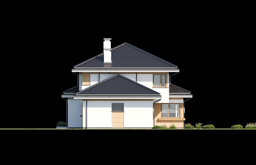 Dom z widokiem 5 wariant B elewacja boczna