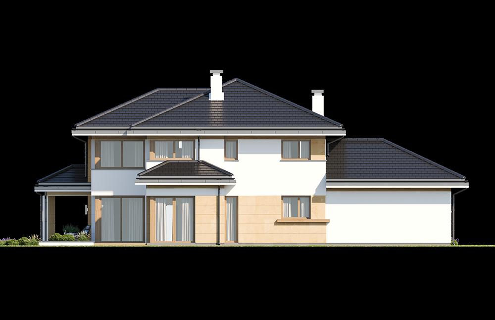 Dom z widokiem 5 wariant B elewacja tylna