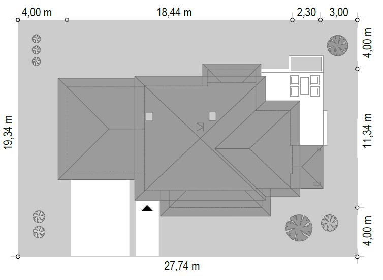 Dom z widokiem 5 wariant B - sytuacja