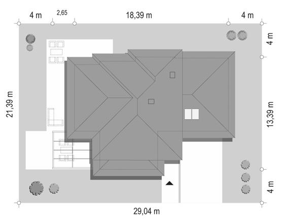 Dom z widokiem 6 B - sytuacja odbicie lustrzane