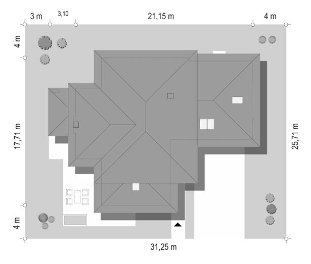 Dom z widokiem B - sytuacja