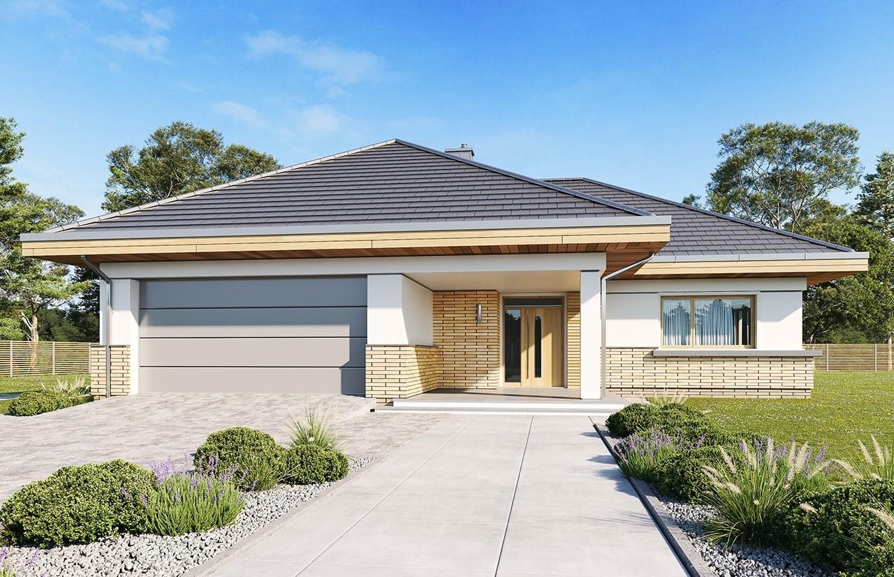 Projekt domu Doskonały 2 E - wizualizacja frontowa