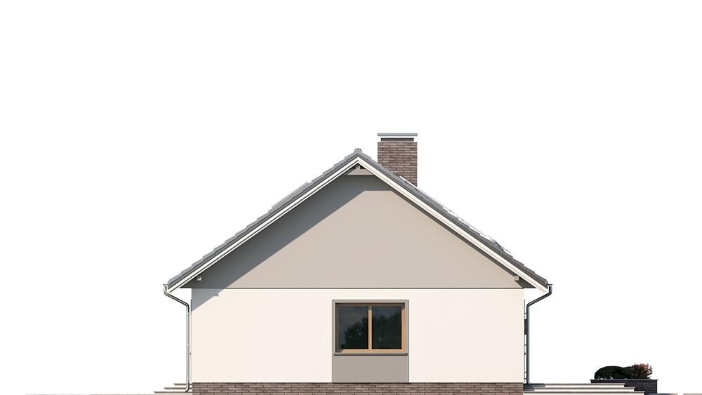 Projekt domu Ekonomiczny 2 elewacja odbicie lustrzane