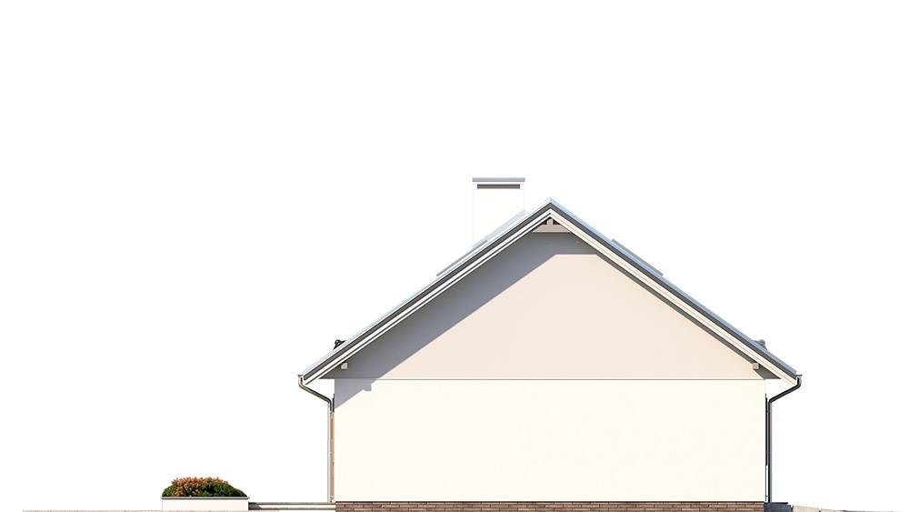 Projekt domu Ekonomiczny 3 elewacja odbicie lustrzane