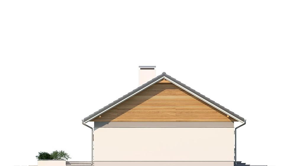 Projekt domu Ekonomiczny elewacja  odbicie lustrzane