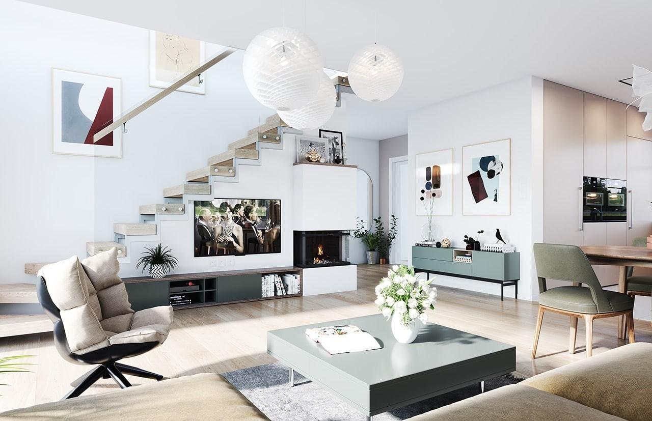 Projekt domu Ekonomiczny 3 wizualizacja wnętrza
