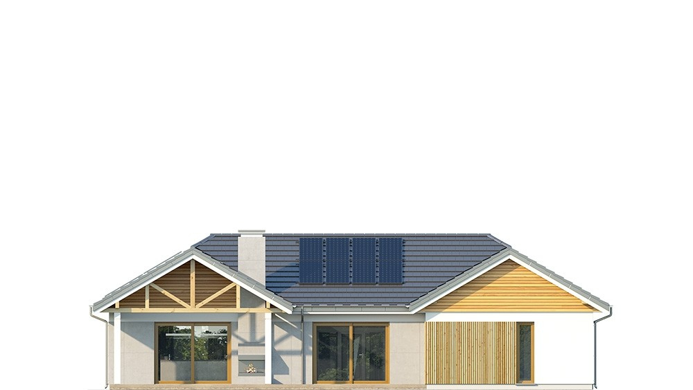 Projekt domu Hanka - elewacja odbicie lustrzane