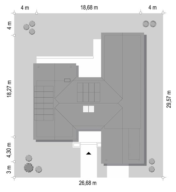Projekt domu Hanka - sytuacja