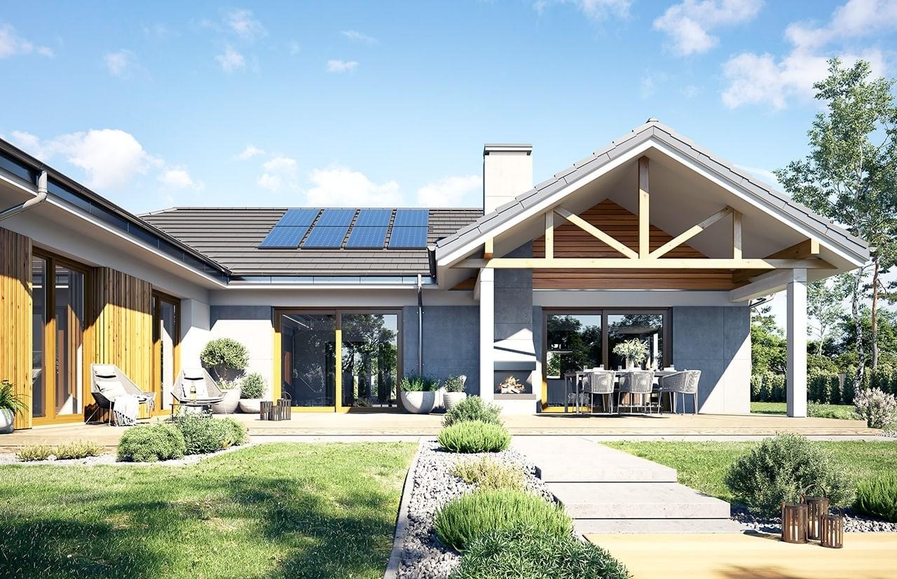 Projekt domu Hanka - wizualizacja ogrodowa 2