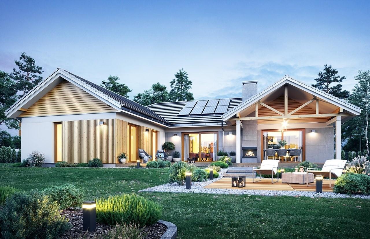 Projekt domu Hanka - wizualizacja ogrodowa