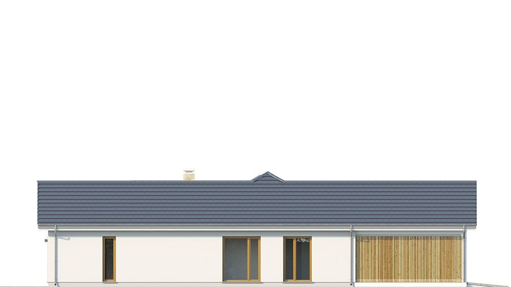 Projekt domu Hanka 2 - elewacja odbicie lustrzane