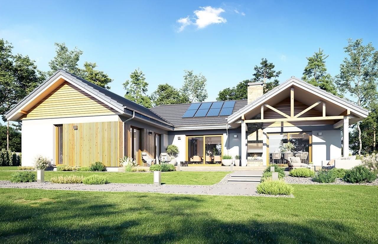 Projekt domu Hanka 2 - wizualizacja ogrodowa 2